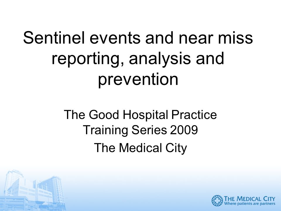 sentinel event analysis