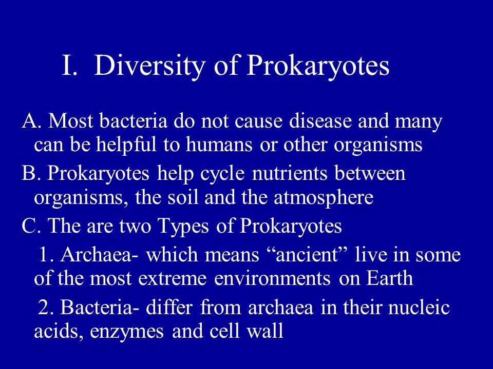 I. Diversity of Prokaryotes