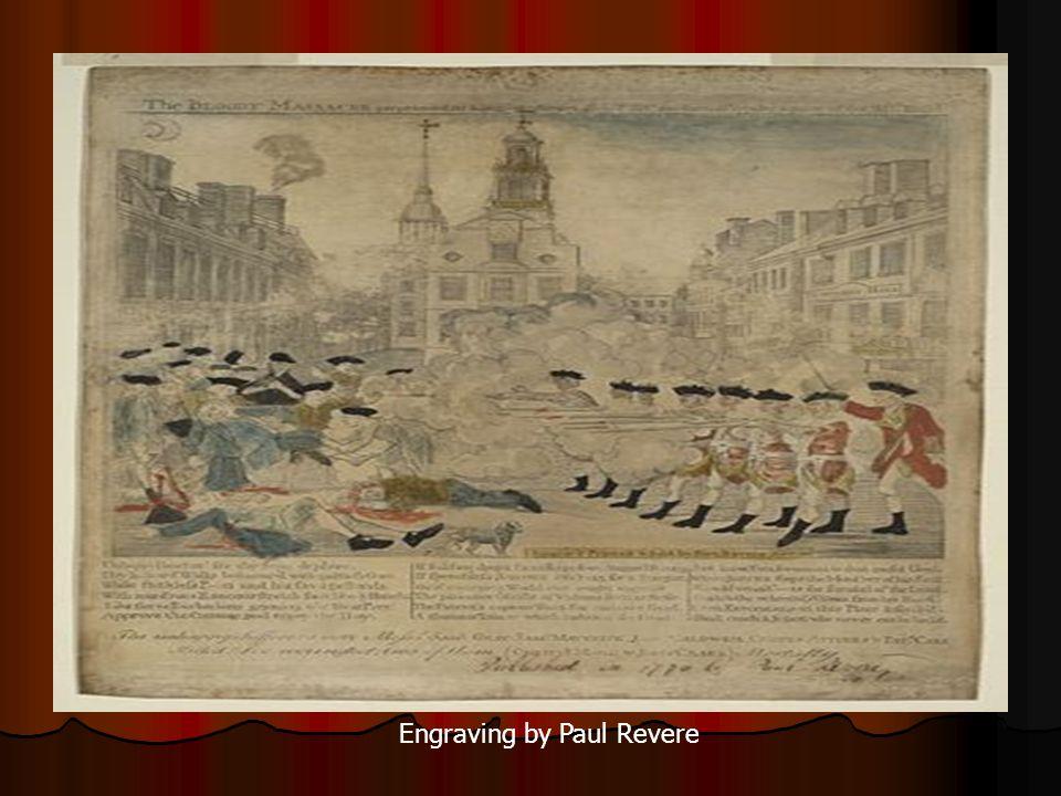Engraving by Paul Revere