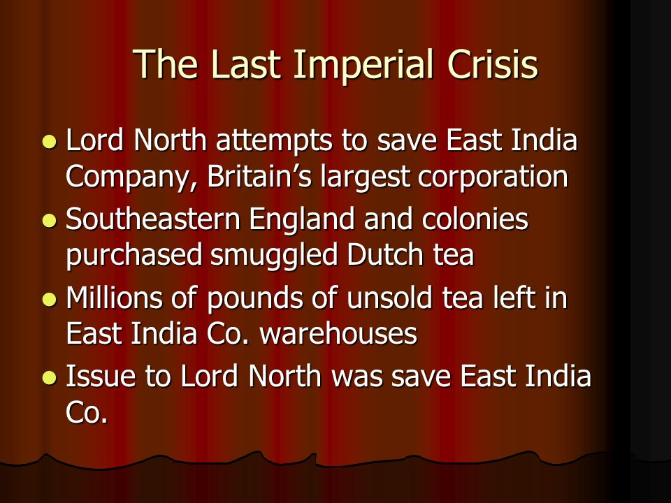 The Last Imperial Crisis