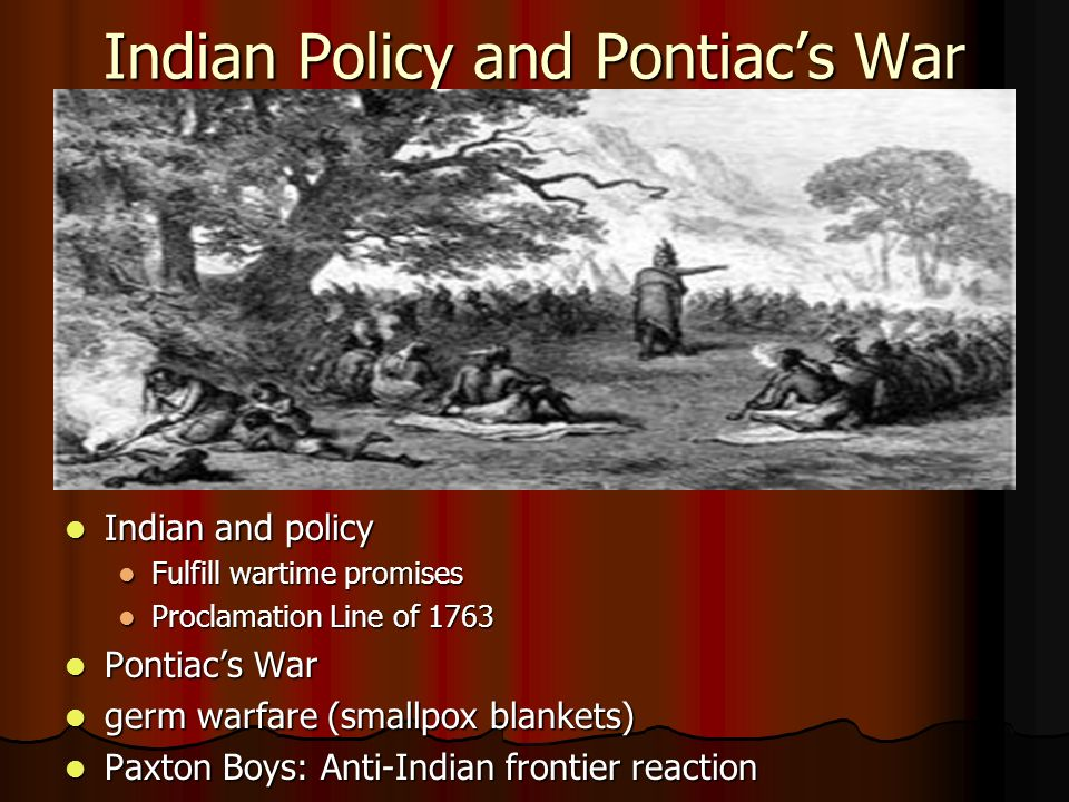 Indian Policy and Pontiac's War