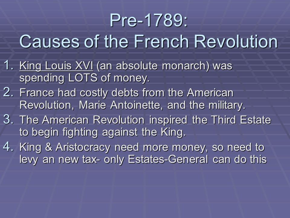 the causes and consequences of the french revolution in 1789 Economical causes of the french revolution were in fact very important and influential  main causes and effects of the french revolution  causes of the 1789 .