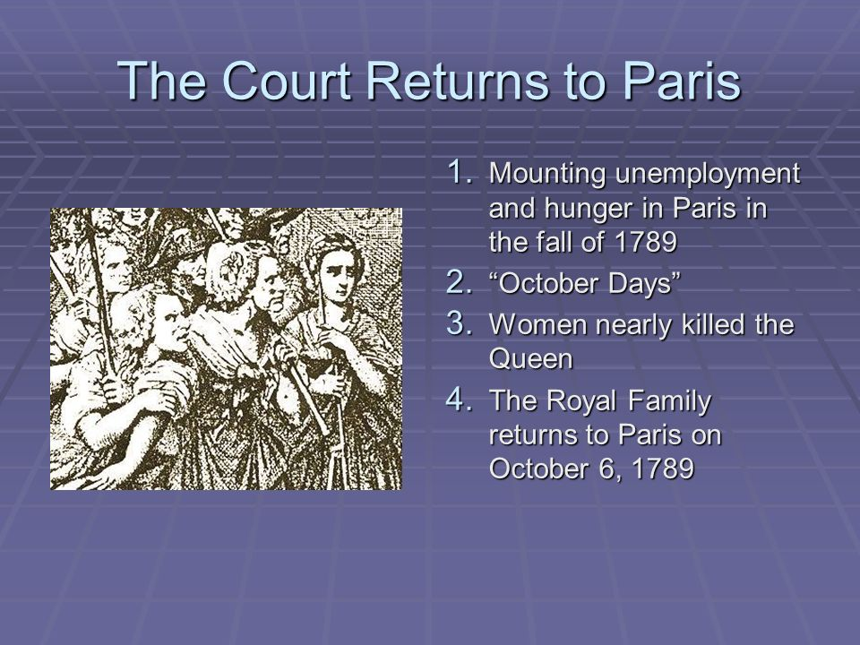 The Court Returns to Paris