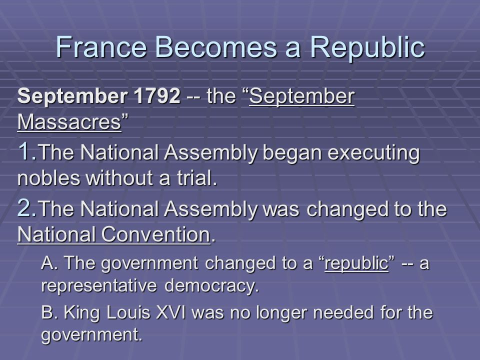 France Becomes a Republic