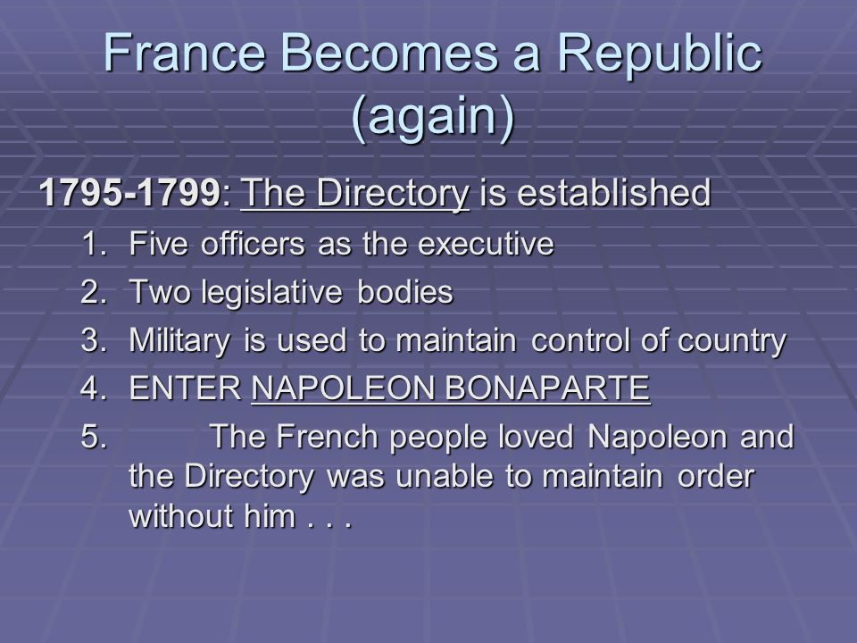 France Becomes a Republic (again)