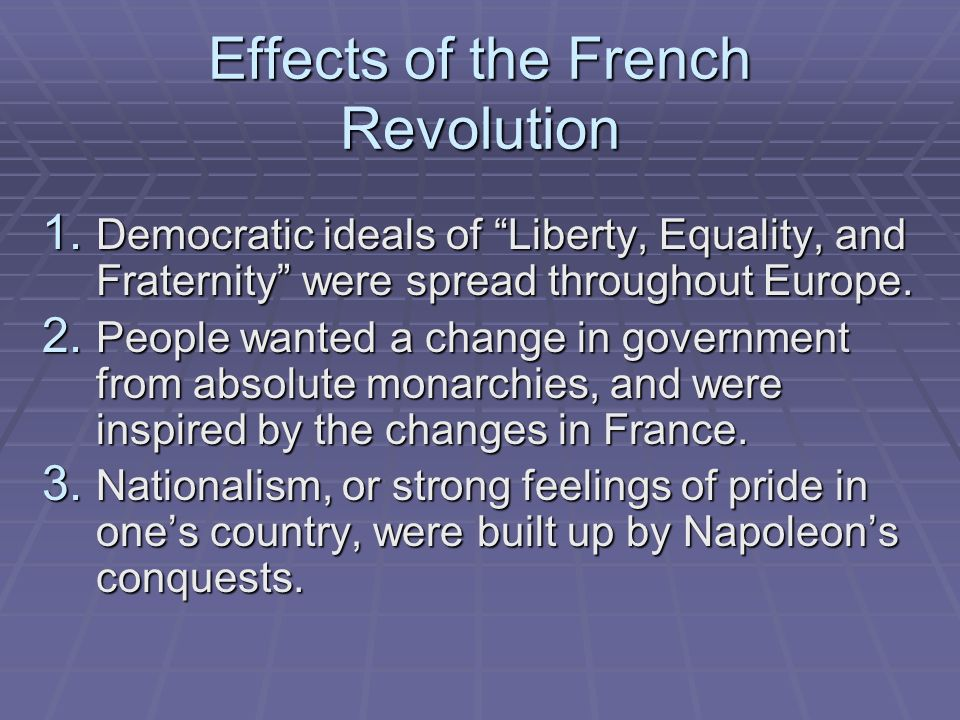 an analysis of the presentation on the changing political causes of the french revolution Find helpful customer reviews and review ratings for political order and political decay: from the industrial revolution to the globalization of democracy at amazon.