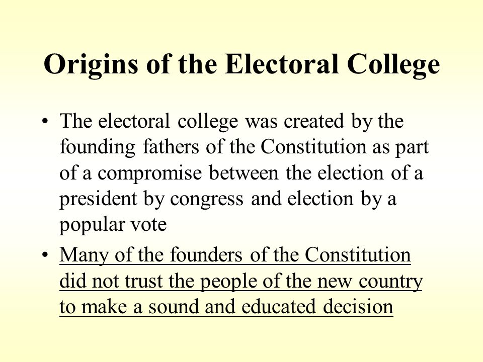 Origins of the Electoral College