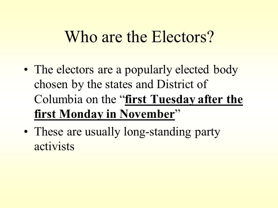 Who are the Electors
