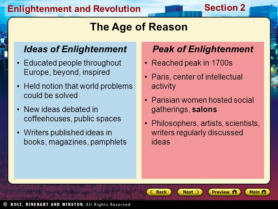 Ideas of Enlightenment