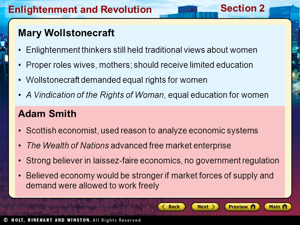 Mary Wollstonecraft Adam Smith