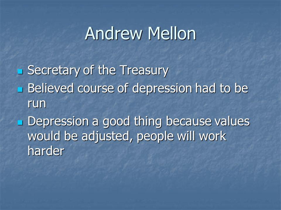 Andrew Mellon Secretary of the Treasury