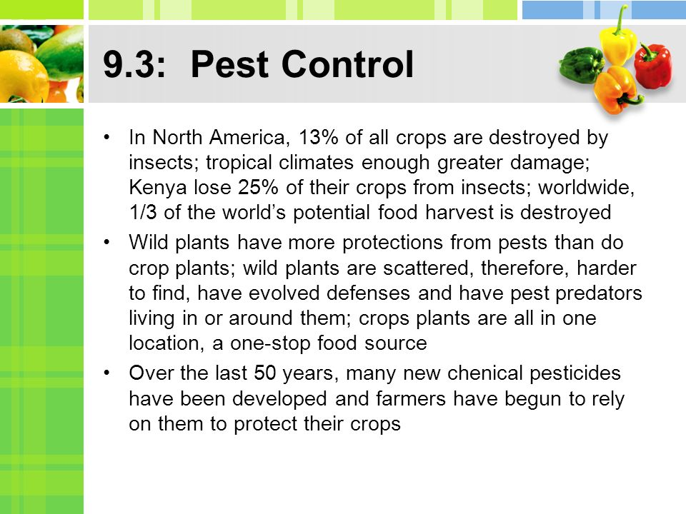 9.3: Pest Control