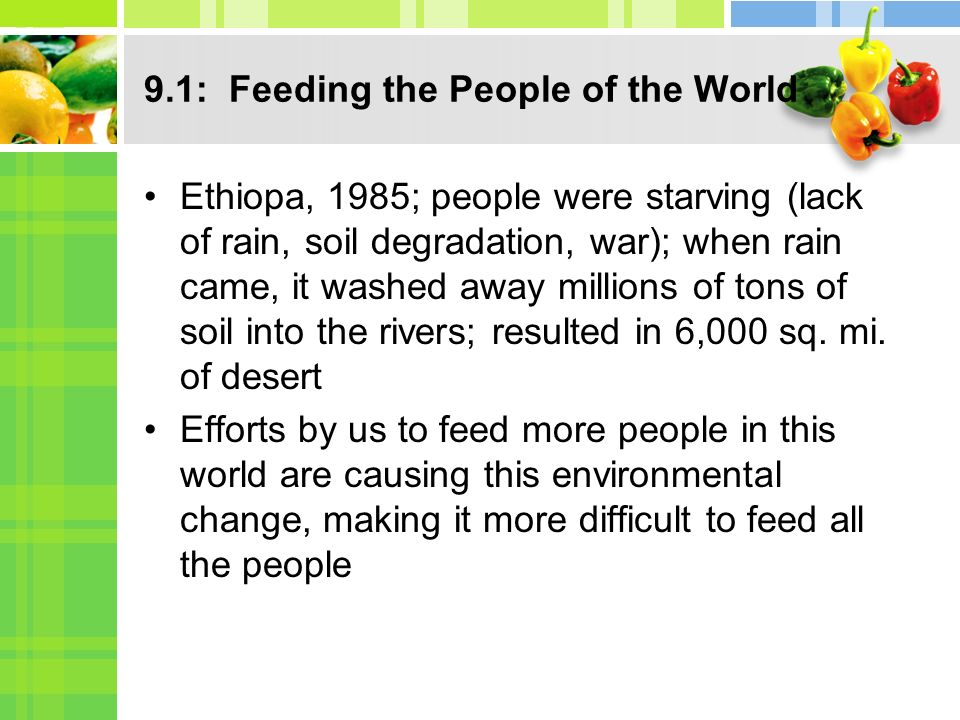 9.1: Feeding the People of the World