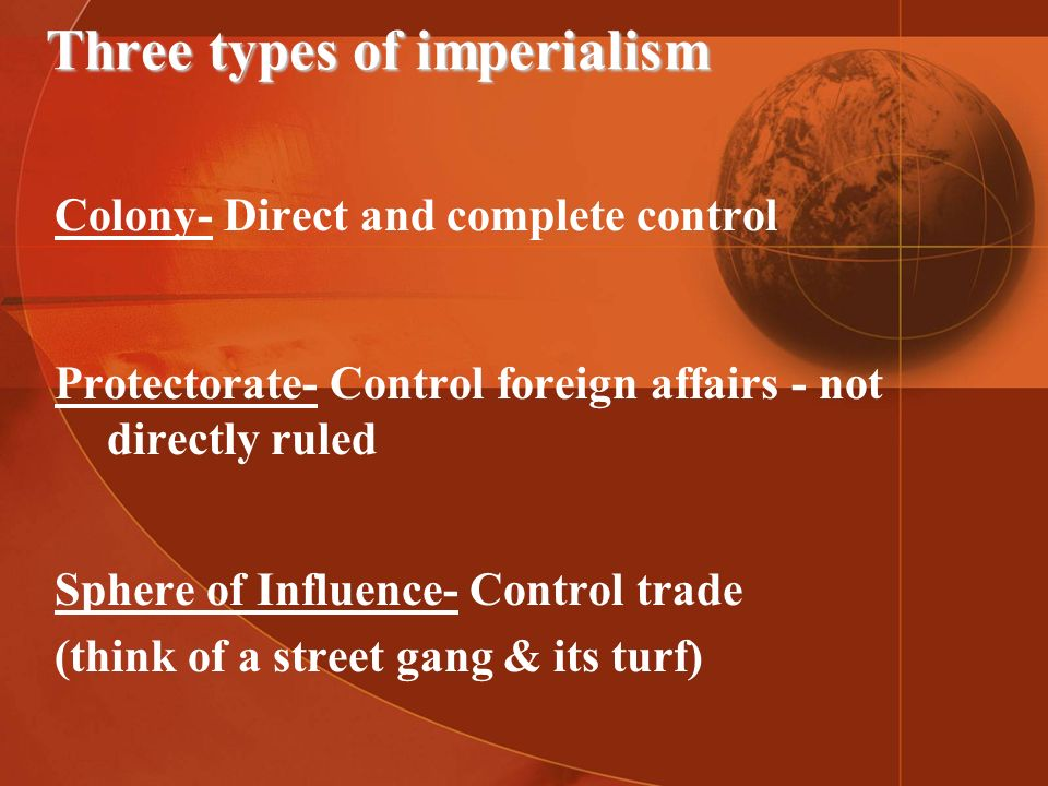 Three types of imperialism