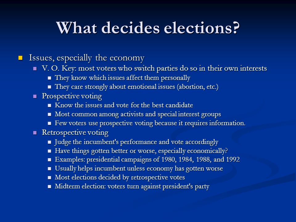 What decides elections