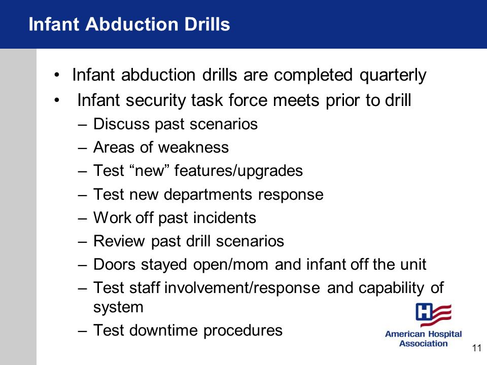 Infant Abduction Drills