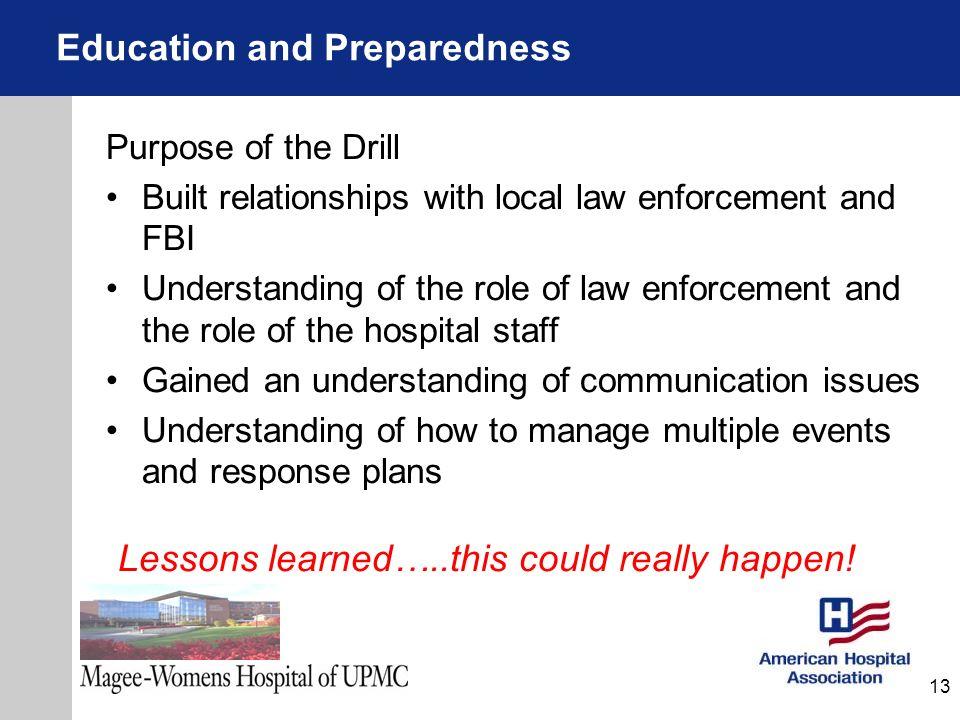 Education and Preparedness