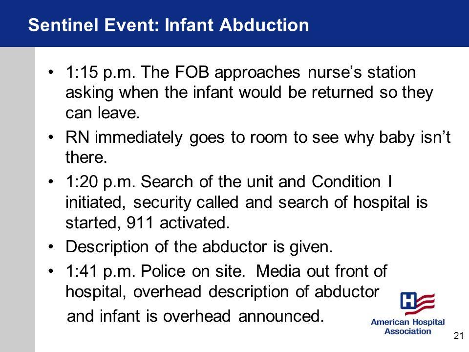 Sentinel Event: Infant Abduction