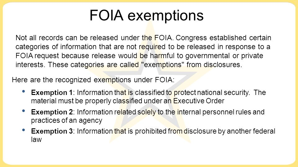 freedom of information executive order pdf
