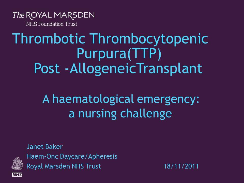trombotisk trombocytopenisk purpura