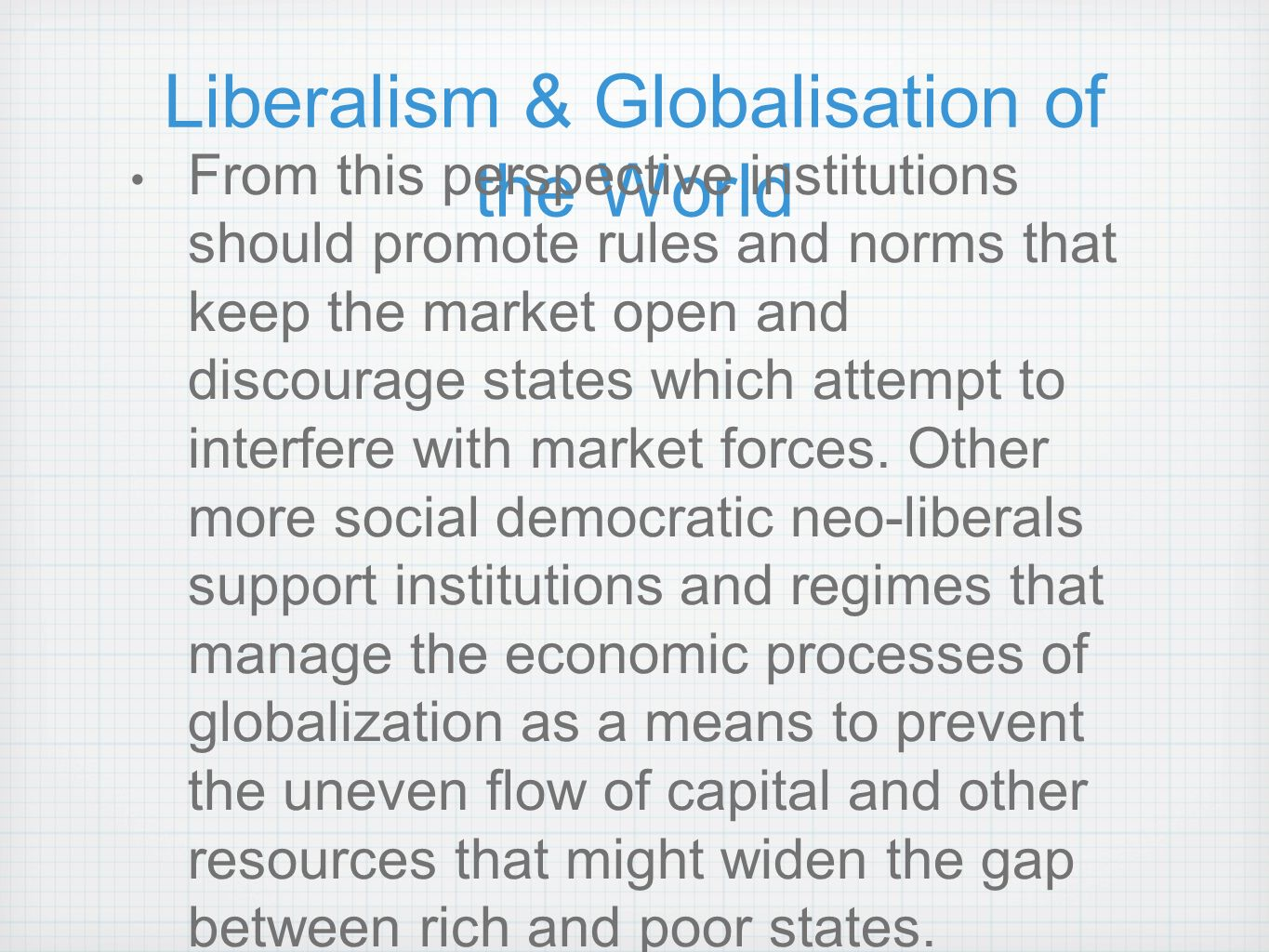 globalization the post cold war Contribution to the debate on globalization's effect on war douglas c  lovelace  post-cold war world, new york: random house, 2000  huntington is.