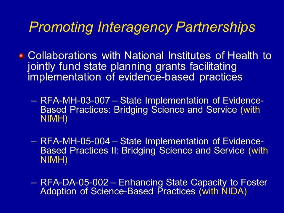 Promoting Interagency Partnerships