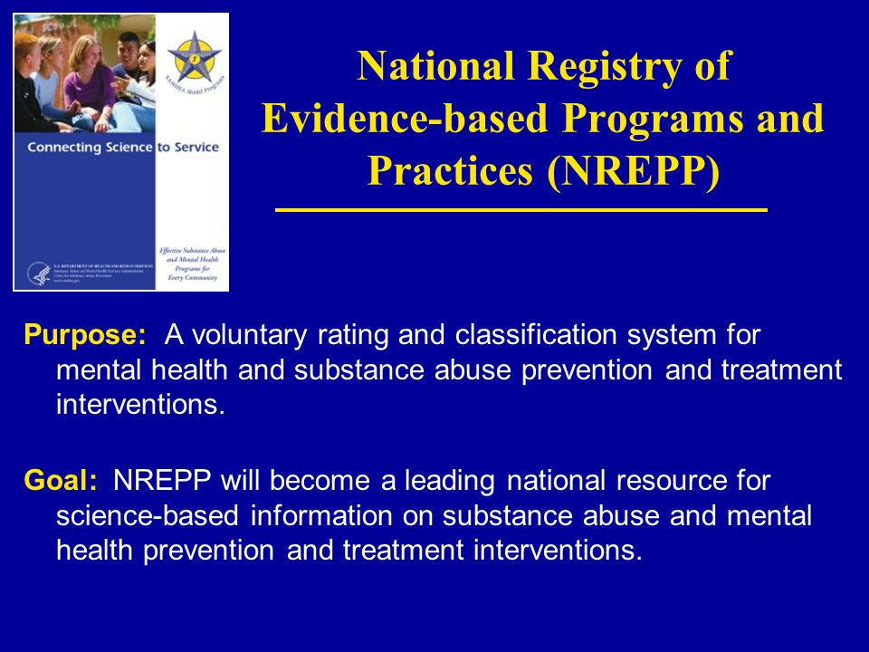 National Registry of Evidence-based Programs and Practices (NREPP)