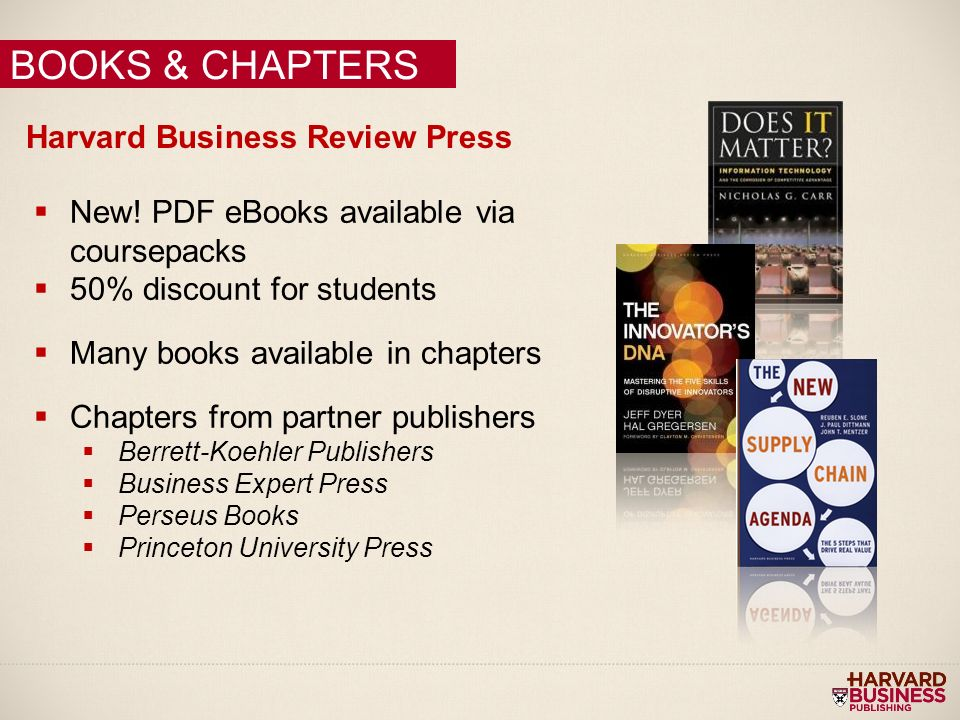 Harvard Business School Press Restrictions - UMUC