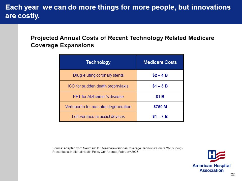 Each year we can do more things for more people, but innovations are costly.