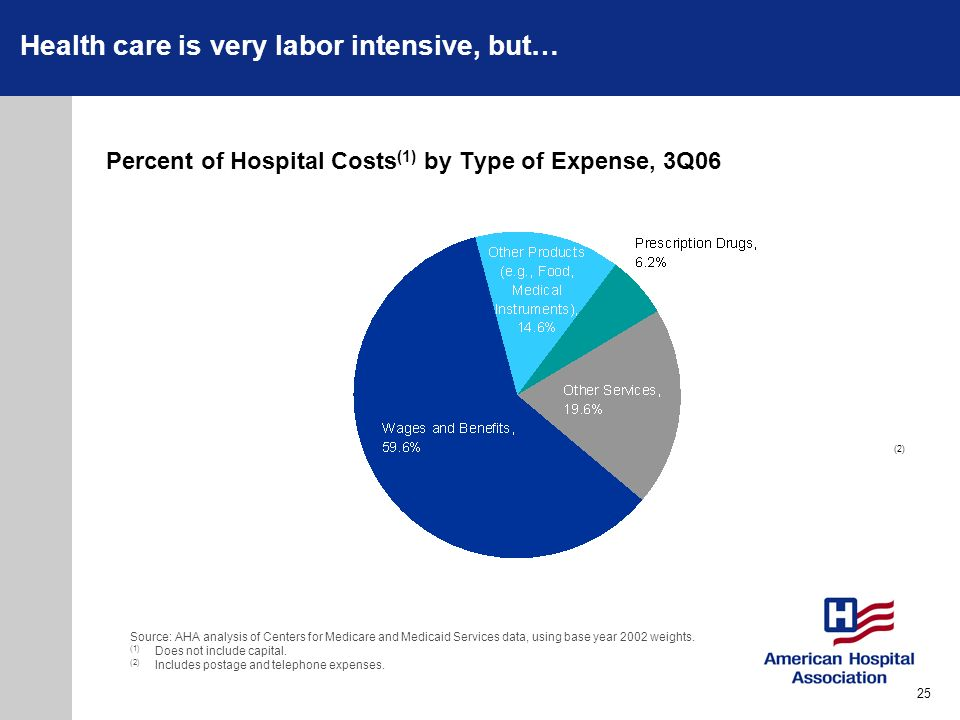 Percent of Hospital Costs(1) by Type of Expense, 3Q06