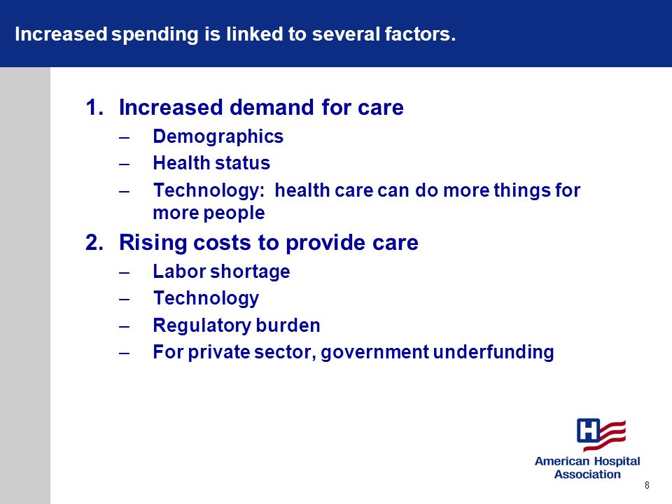 Increased spending is linked to several factors.