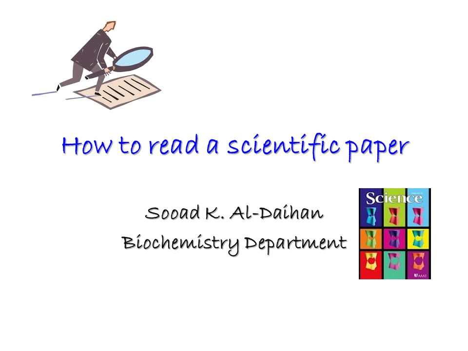 guide to writing a science research paper