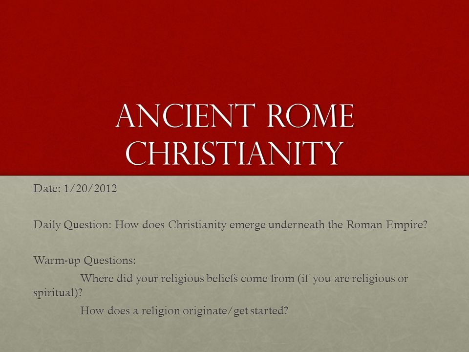 how did the religion of christianity Information about the official religion of the roman empire - while the rise of christianity to dominate western religion may very well have been inevitable, certain key moments along the way helped secure this position.