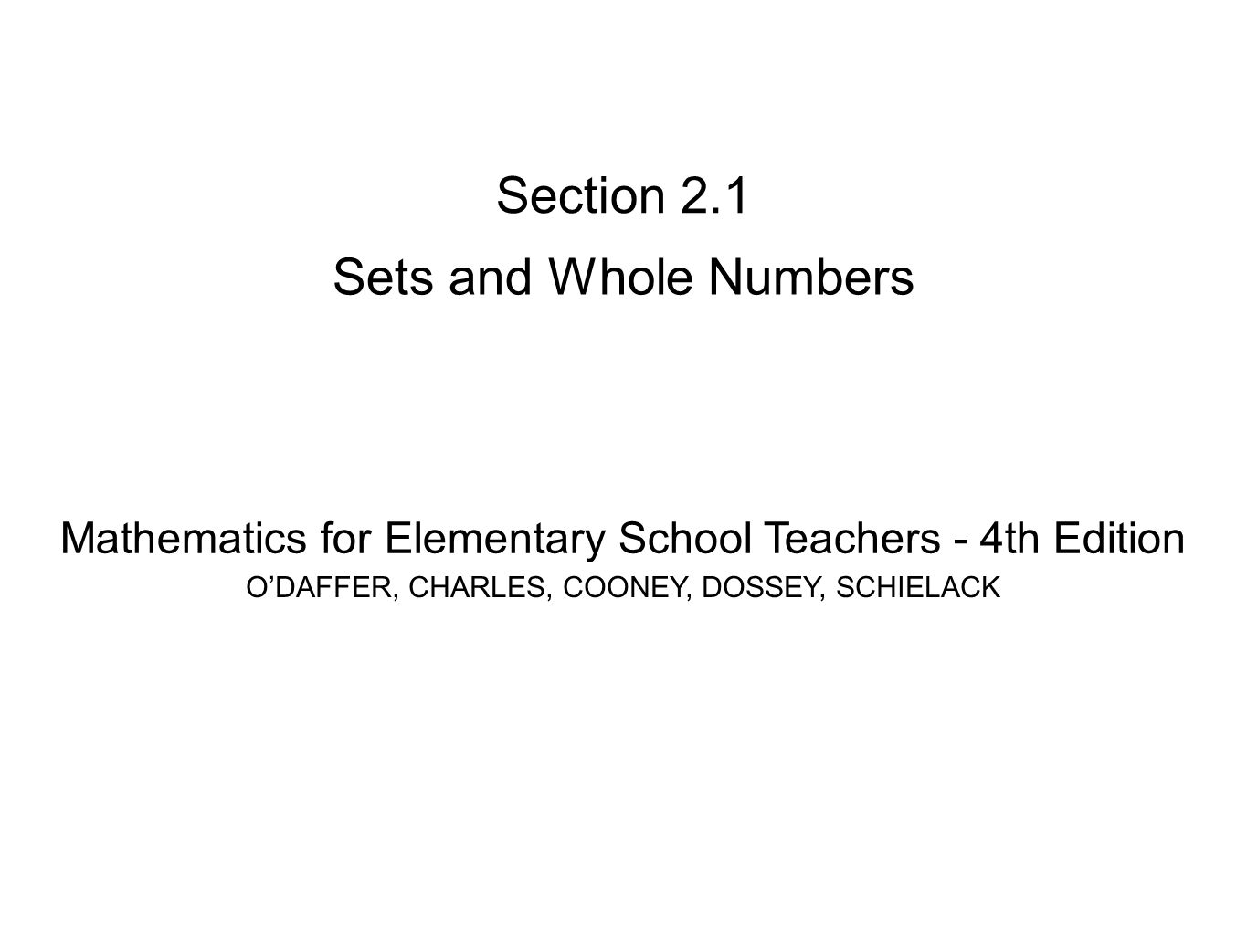 Section 21 sets and whole numbers ppt video online download section 21 sets and whole numbers buycottarizona Image collections