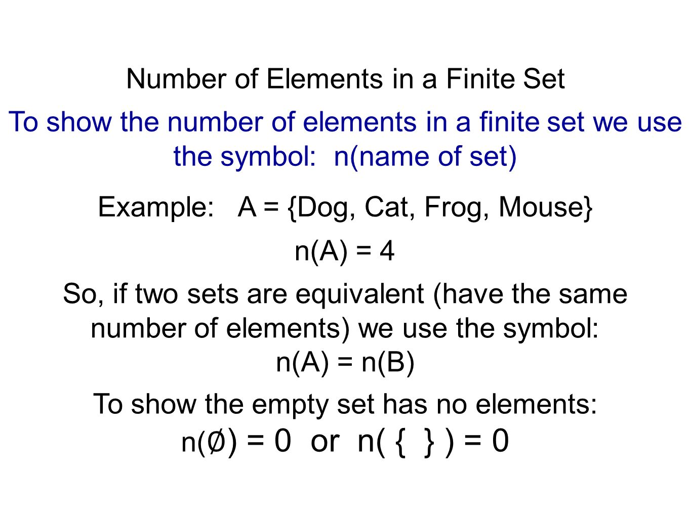 Section 21 sets and whole numbers ppt video online download number of elements in a finite set biocorpaavc Images