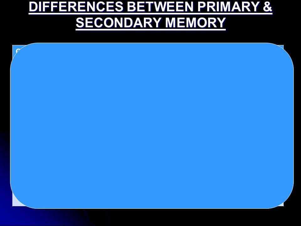 difference between primary and secondary storage pdf