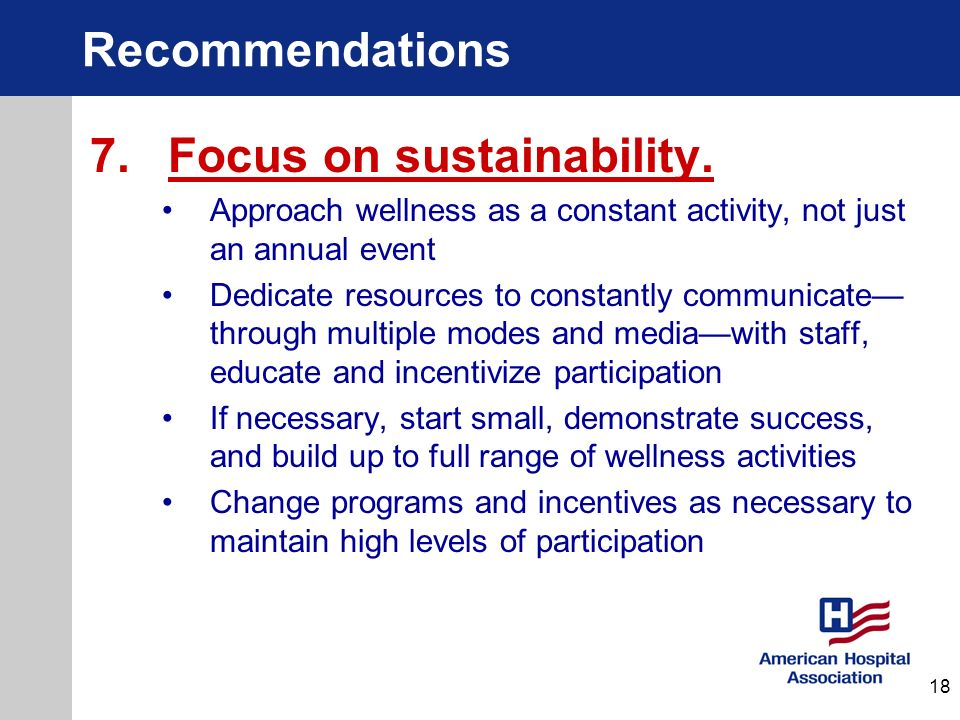 7. Focus on sustainability.