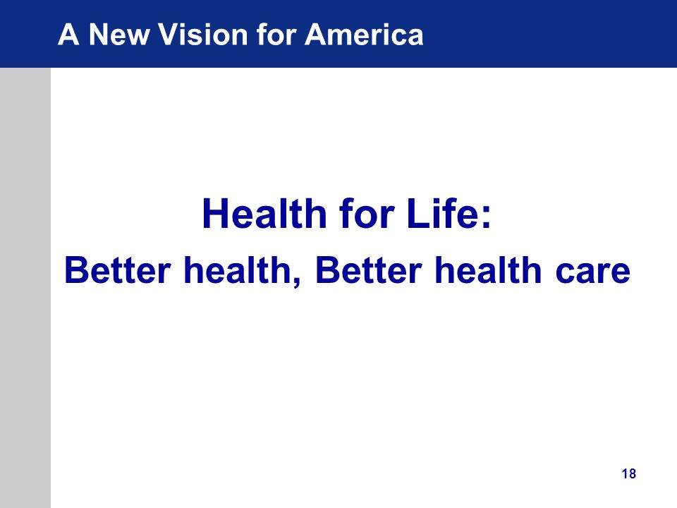 A New Vision for America