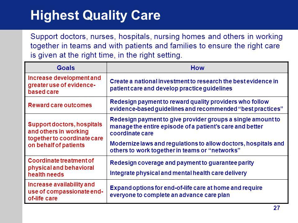 Highest Quality Care
