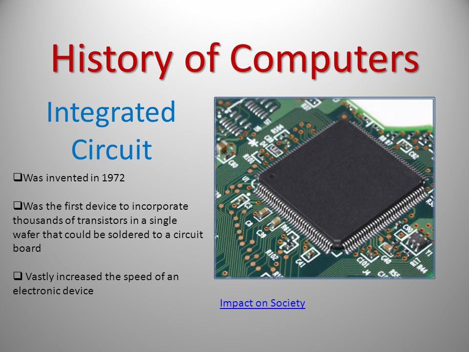 a history of the electronic computer No comprehensive history of electronic computers within the us army ordnance  corps had previously been compiled and for this reason the sources for this.