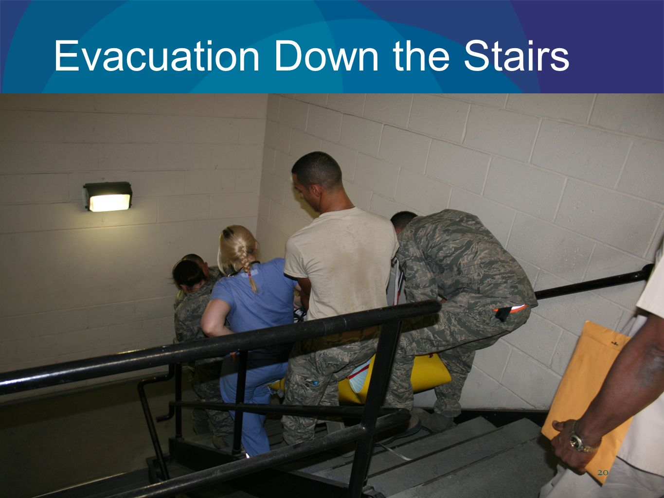 Evacuation Down the Stairs