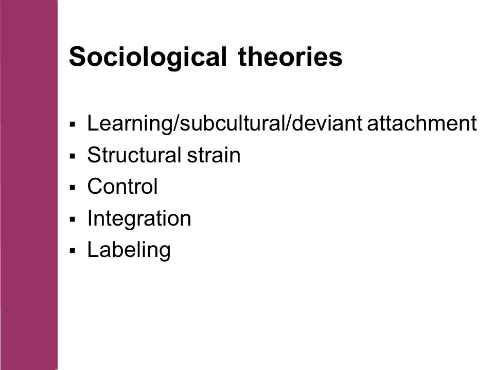 strain theory control theory differential association theory labeling theory and conflict theory in  Out of 125 points labeling involves attaching a  social control theory answers: differential association theory social  differential association theory social.