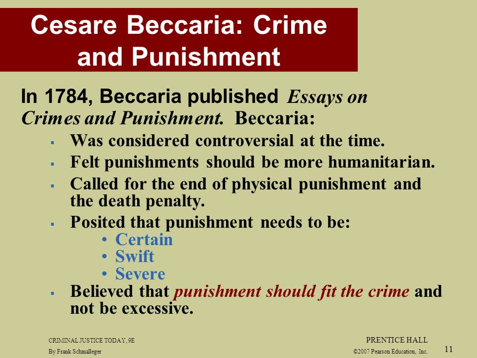 An essay on crimes and punishments cesare beccaria summary