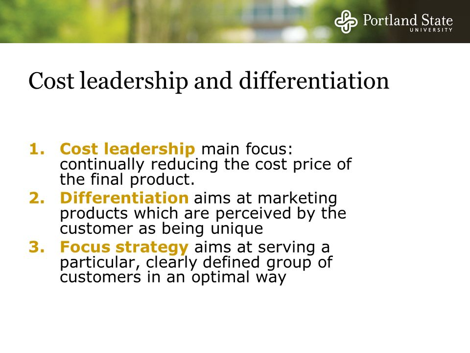 customer focused low cost leadership strategy Because the world has evolved into a customer focused  or within your industry  are developing and managing customer focus to gain  but the cost balances out  when customer satisfaction, loyalty, and value are factored in.