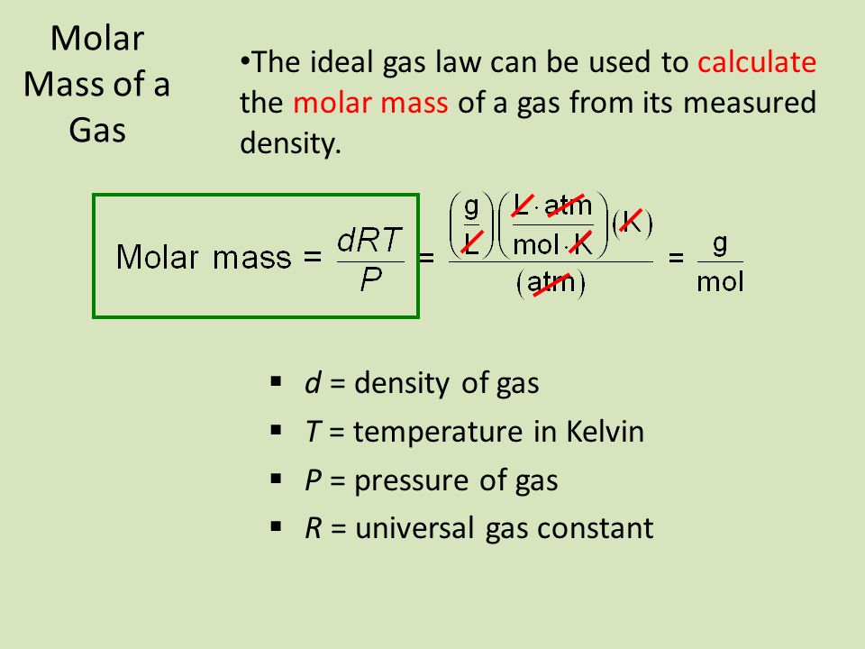 determining molar mass by ideal gas For students to compare properties of real and ideal gases (based on kmt assumptions) as they determine the molar mass of a volatile solvent, for honors or ap chemistry product type determining molar mass using the ideal gas equation chemistry kit.