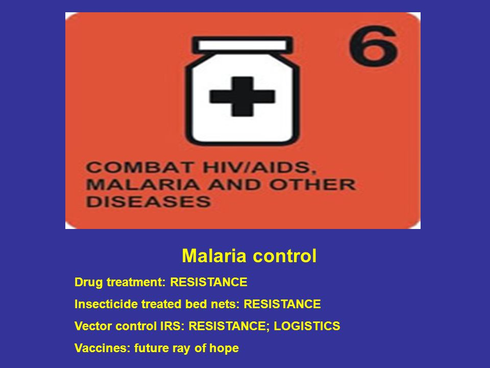 Malaria control Drug treatment: RESISTANCE