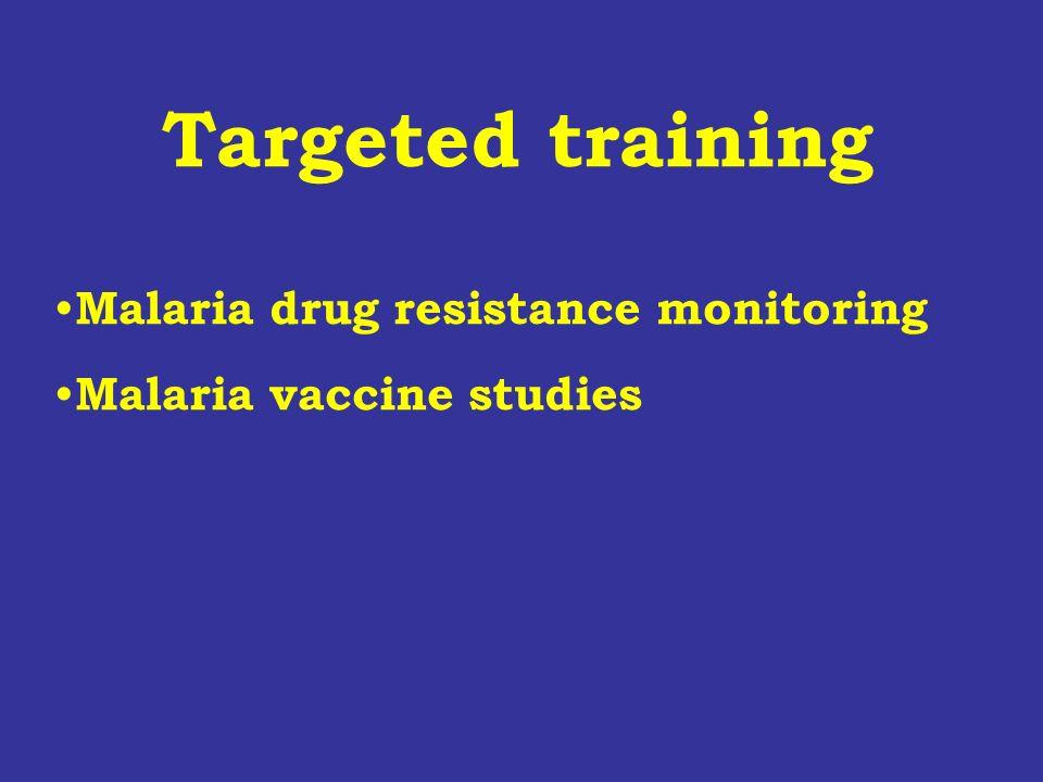 Targeted training Malaria drug resistance monitoring