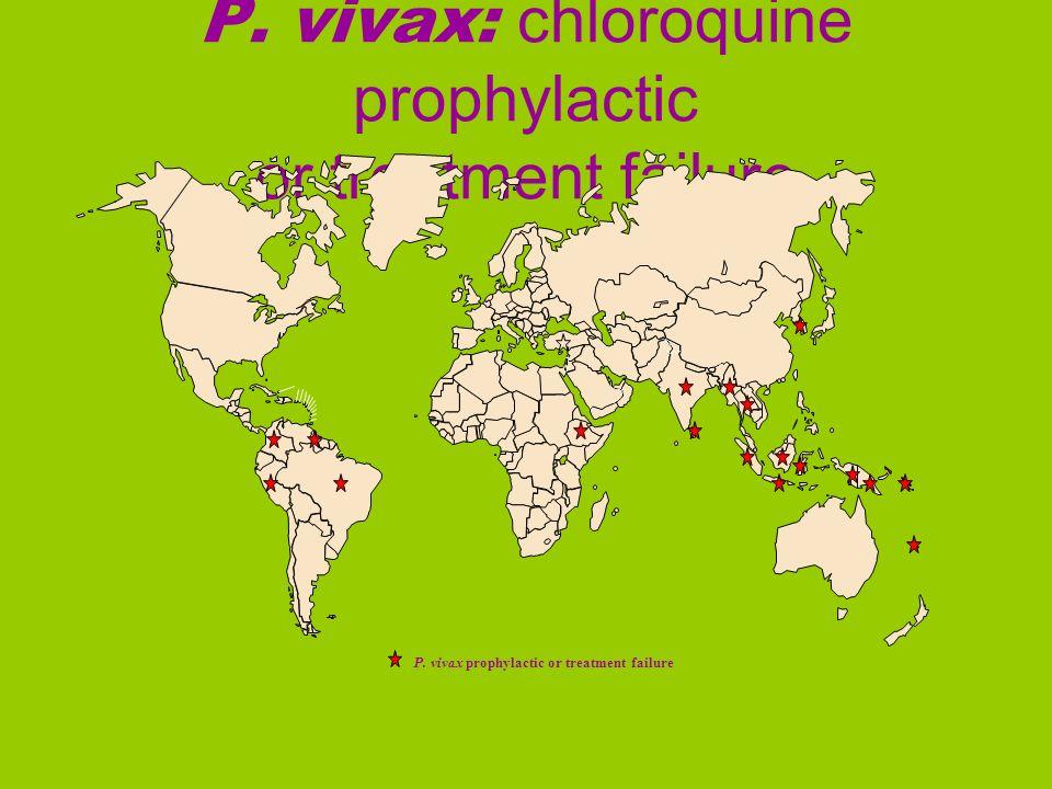 P. vivax: chloroquine prophylactic or treatment failure
