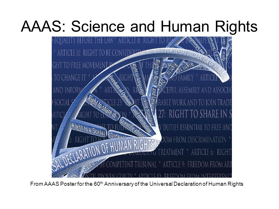 AAAS: Science and Human Rights