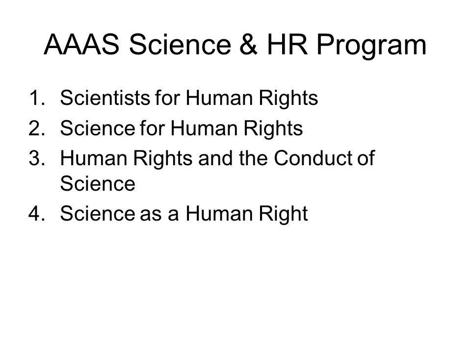 AAAS Science & HR Program